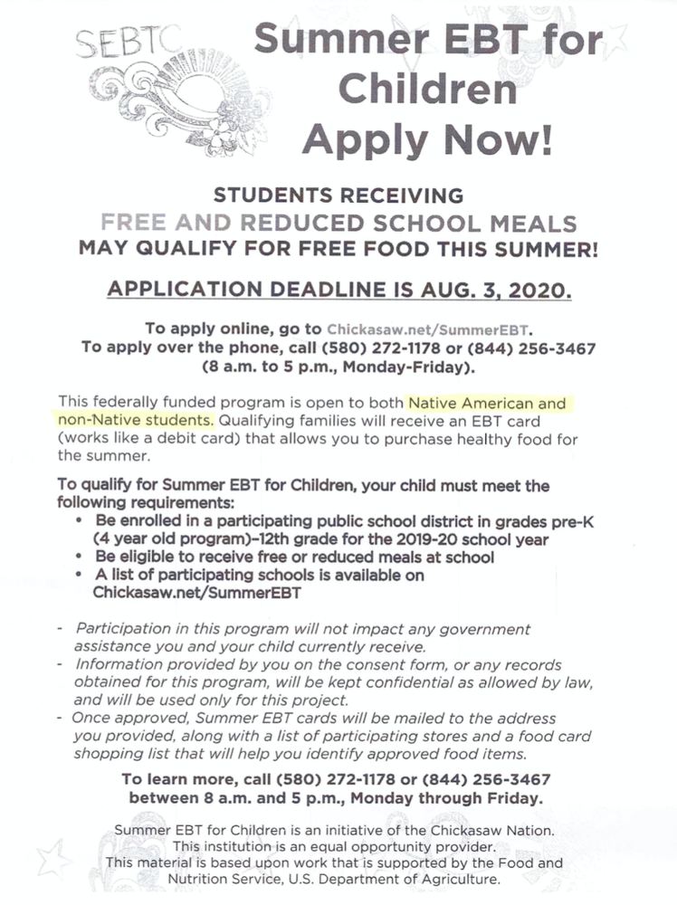 Summer EBT Apply Now!